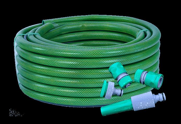 Kit rega FR | Mangueira verde claro com parede reduzida (flexível) e acessórios